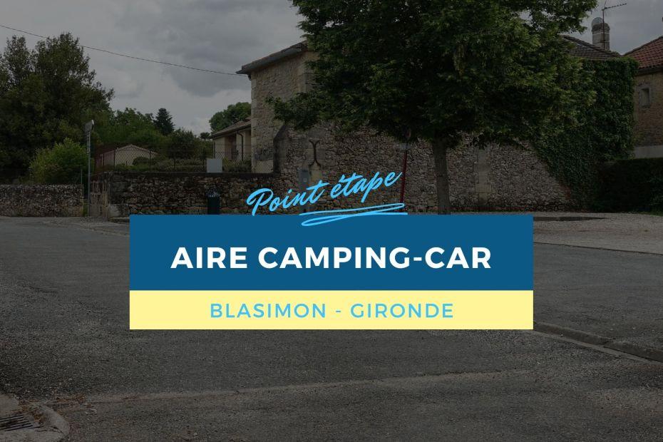 Aire camping-car de Blasimon (Gironde) - Point étape