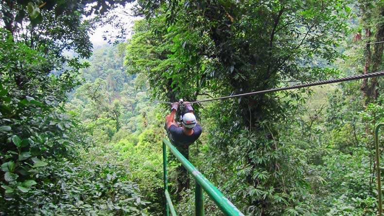 Parenthood and Passports- ziplining in Costa Rica