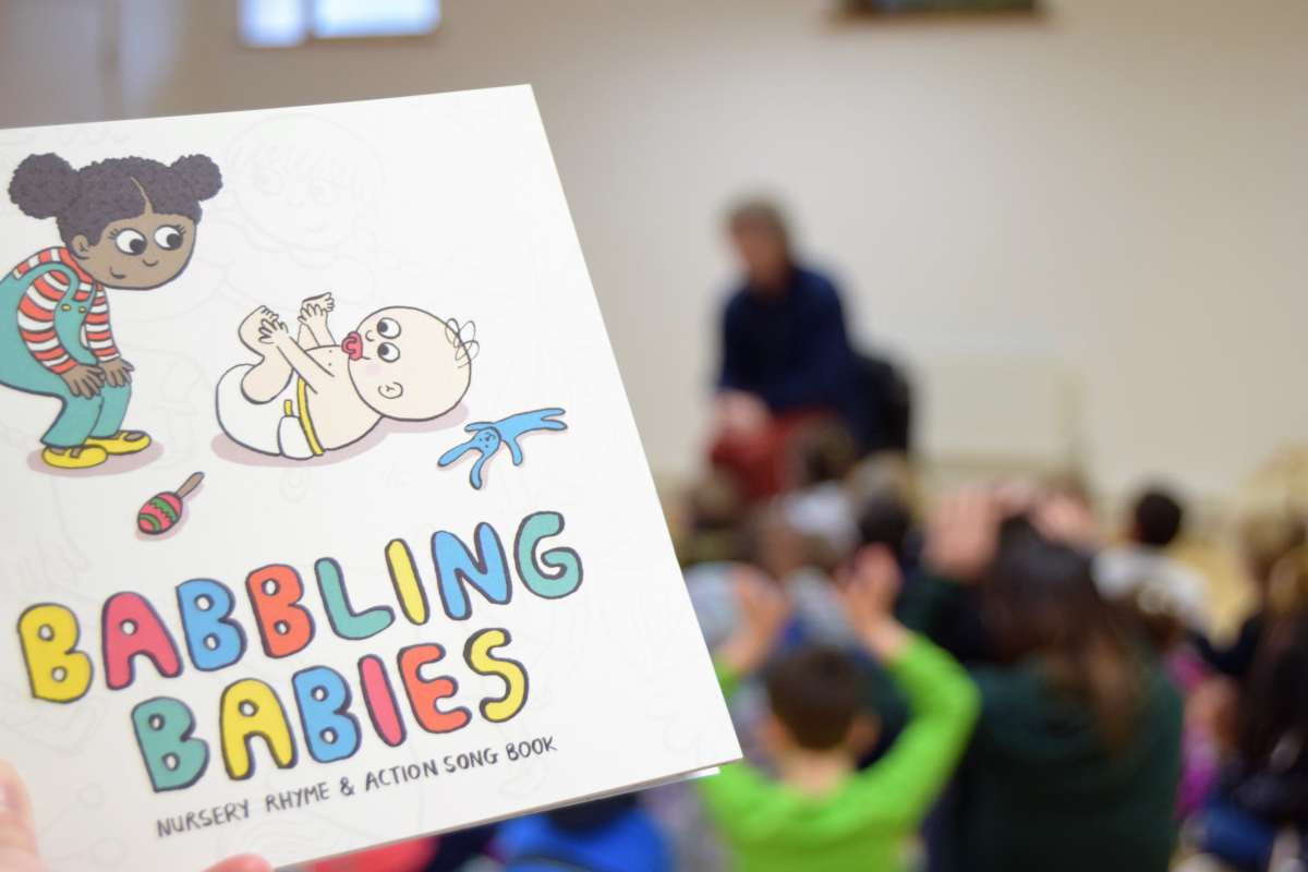 Babbling Babies nursery rhyme and action song book launched in Central Library, Letterkenny