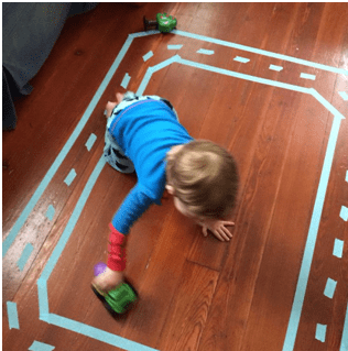 race track toddler play