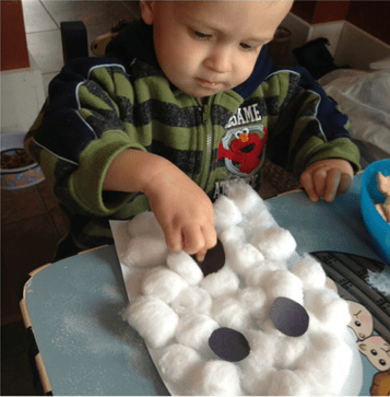 cotton balls play toddlers