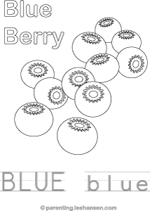 Blue Color, Trace, and Read Activity Sheet
