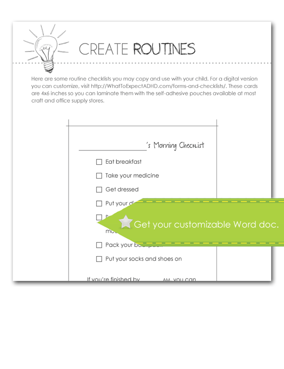 Create Routines, Customize