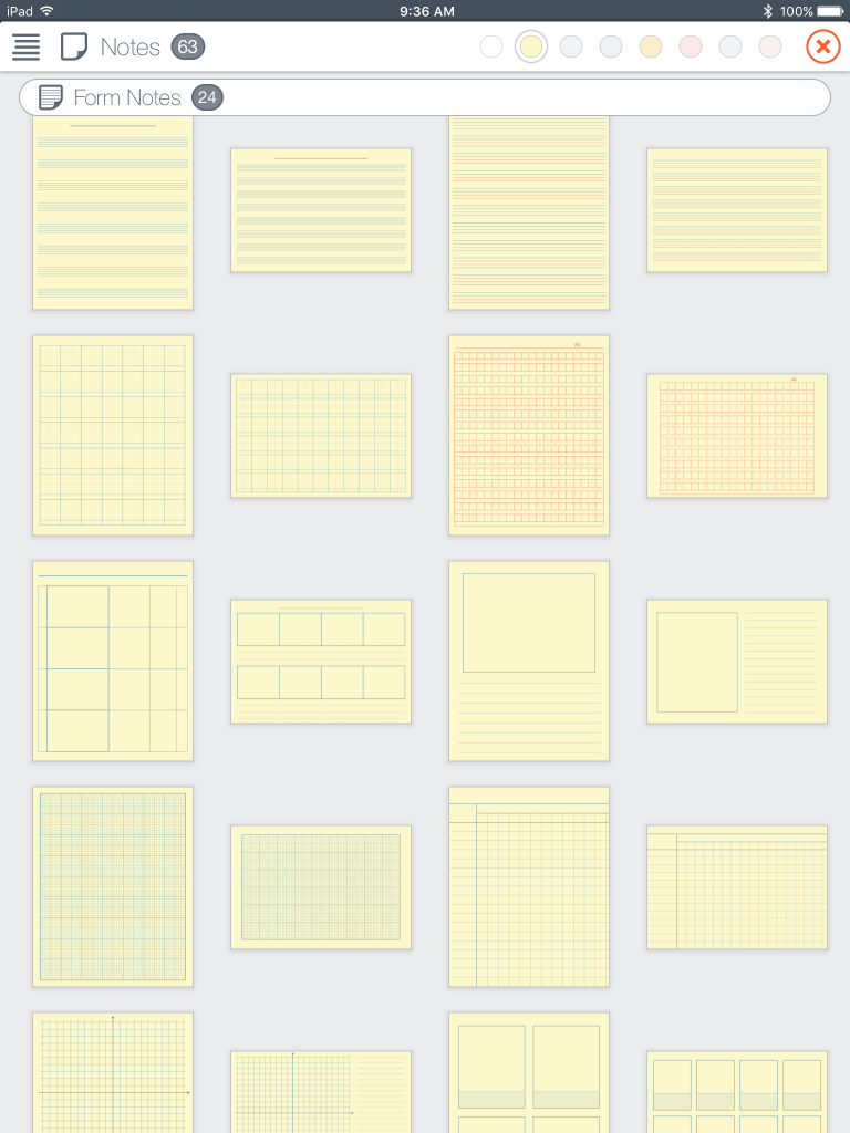 UPAD3 Screenshot, Many Paper Backgrounds Available for Notes