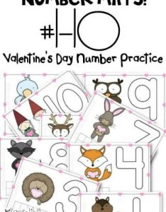 Free printable valentine   day number mats also rh parentingchaos