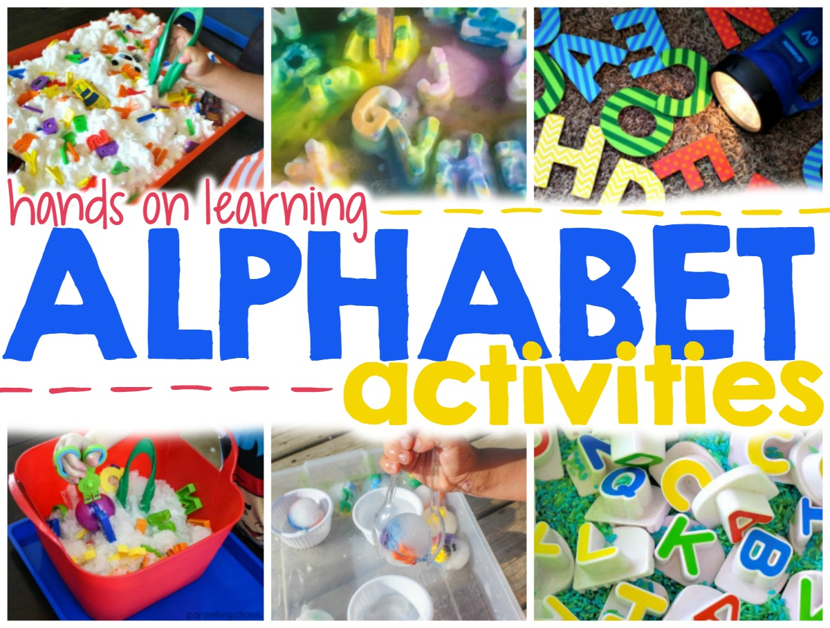 Super Fun Hands On Alphabet Activities For Kids Parenting Chaos