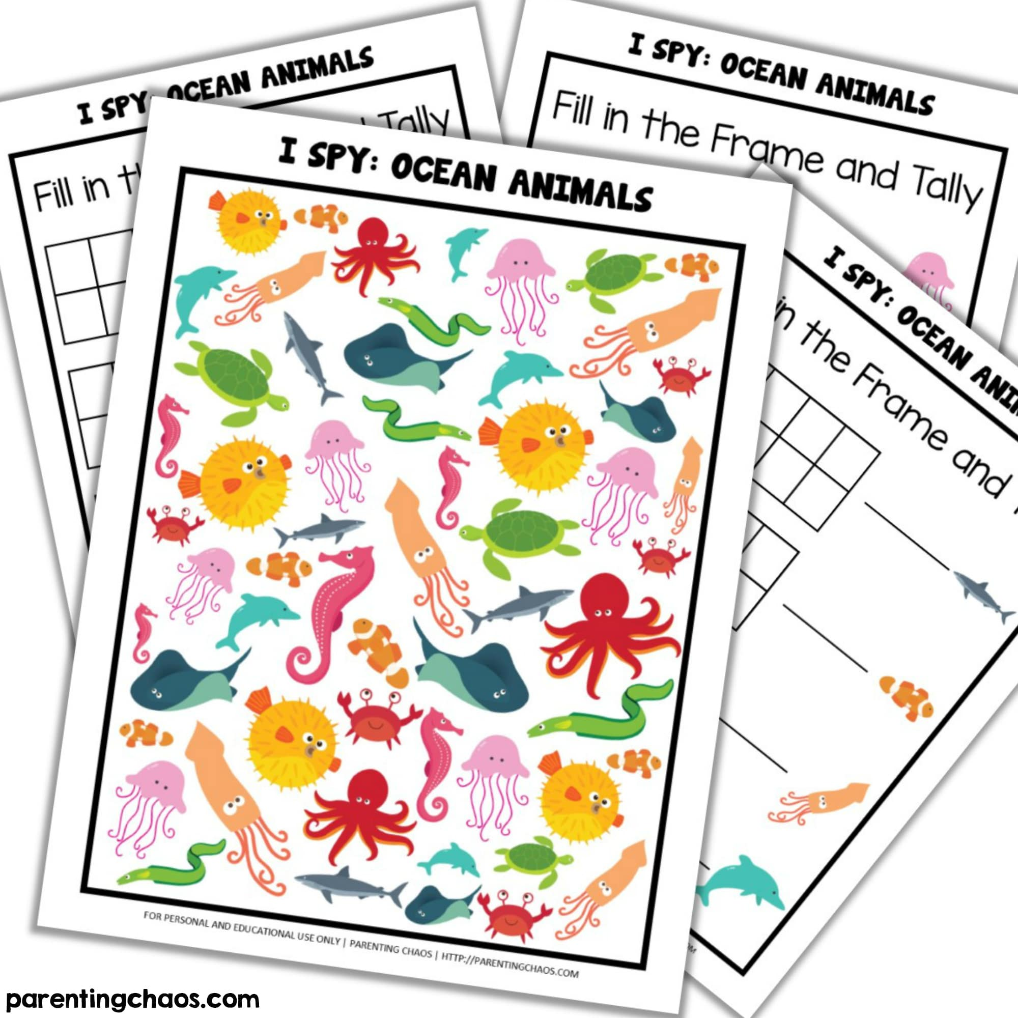 Influential Ocean Animals Printable