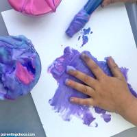 Easy Peasy Homemade Puffy Paint Recipe with Shaving Cream