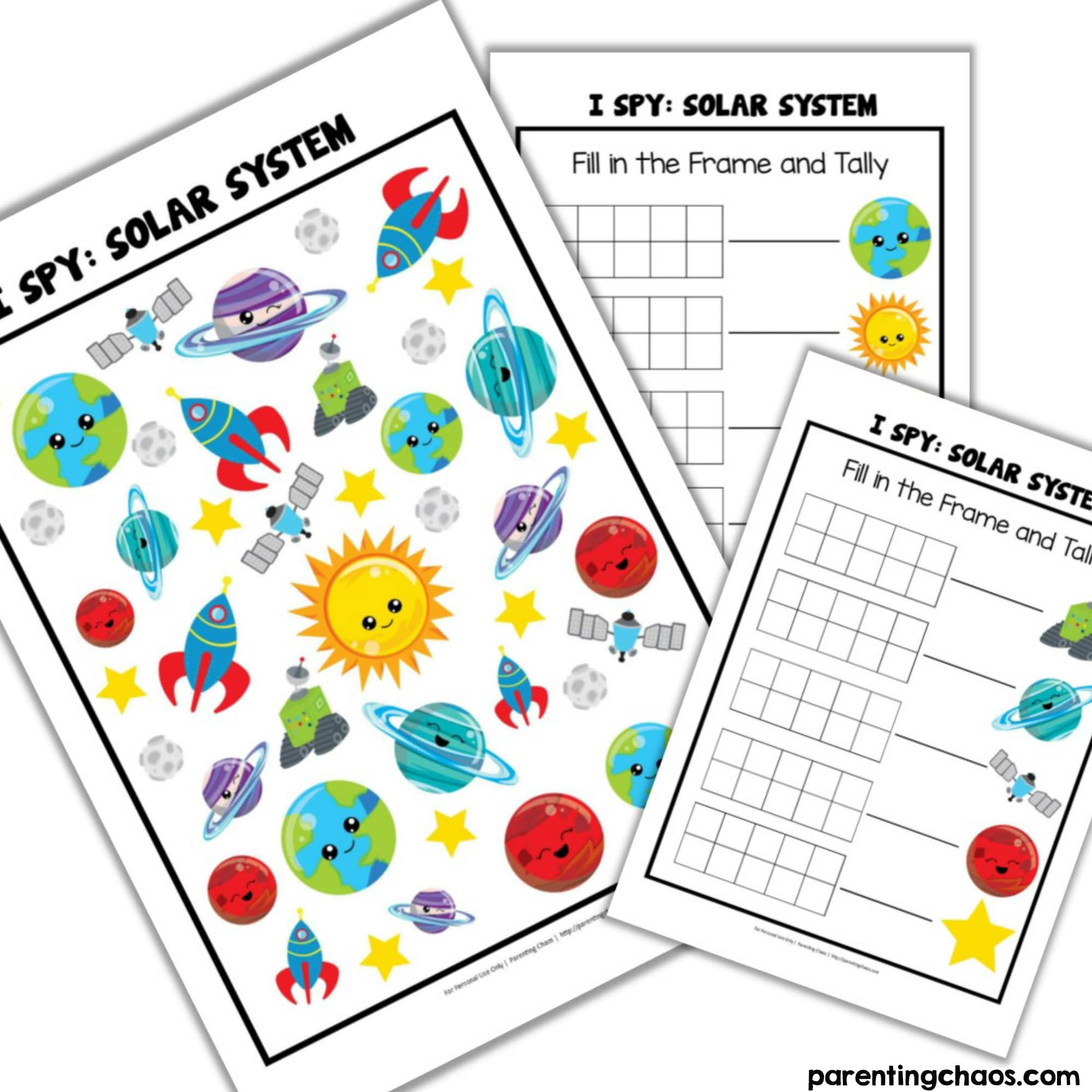 Printable Outer Space I Spy Game For Kids Parenting Chaos