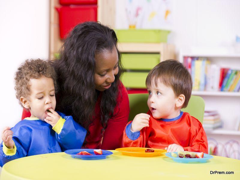 child attend a preschool
