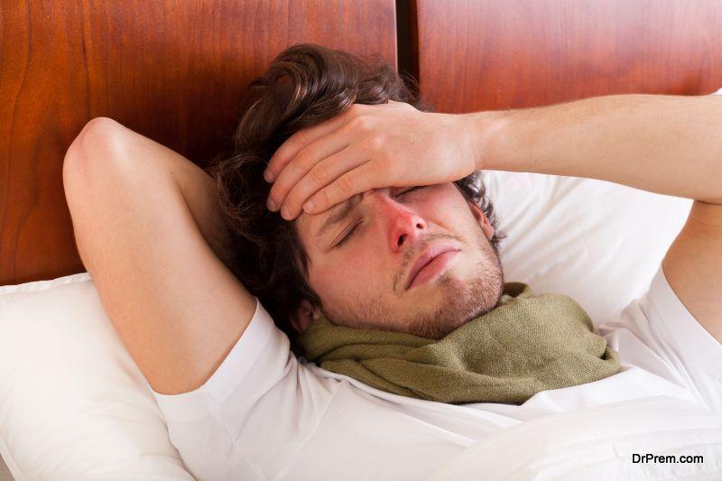 Man having a flu