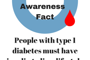 Diabetes Awareness Month: Type 1 Diabetes Must Have Insulin