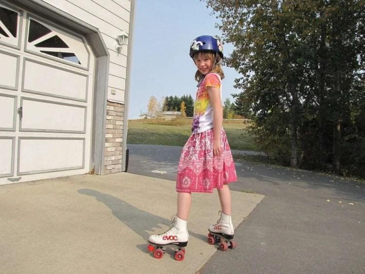 vader en dochter activiteiten rolschaatsen
