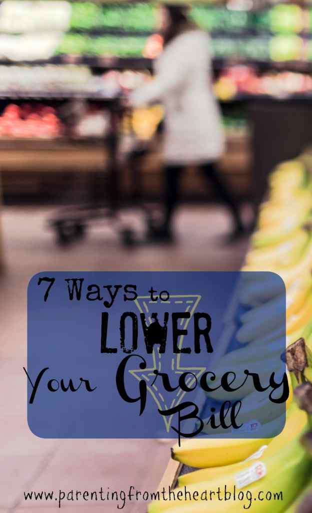 Deterimine your grocery budget, lower your grocery bill, and get what you want and need with these 7 tips