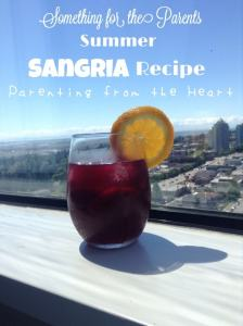 Sangria, red sangria, summer, recipe, summer drinks, patio drinks, red wine, spanish drinks, alcoholic beverages, DIY, Parenting from the Heart