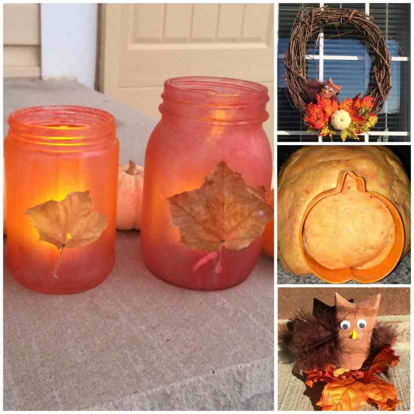 These Fall Toddler activities are REALLY easy to set up and your toddler can do with minimal help! Make Fall Lanterns, engage in sensory play using pumpkin play dough, make a 1 minute Fall wreath, toilet paper roll owls and more! Play based learning, learning through play, toddlers, preschoolers, Fall fun.