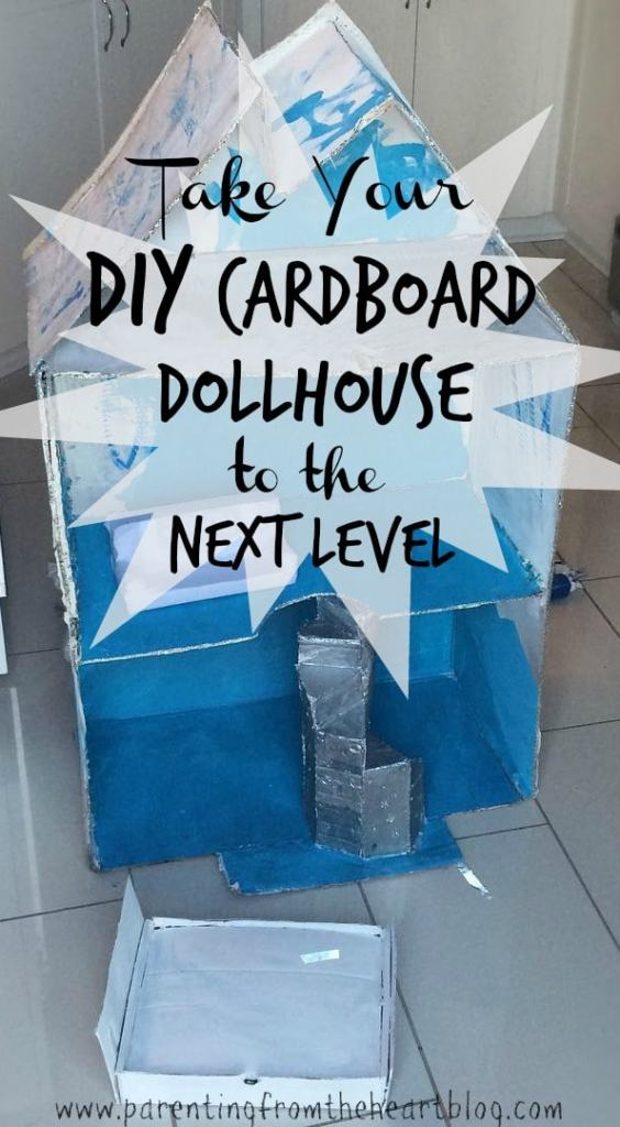 DIY Cardboard Dollhouse Stairs