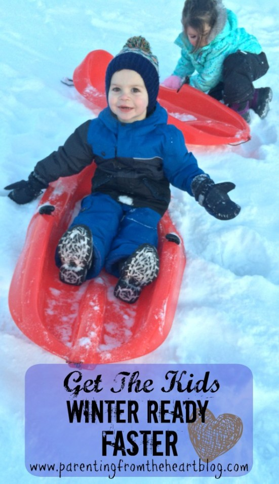 Getting ready for school and appointments with toddlers during snow season is NOT for the faint of heart. After some trail and error, and tears, here are how I get the kids winter ready faster!