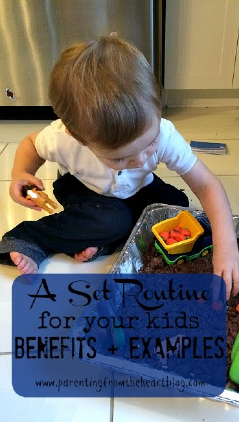 What are the benefits of having a well-established, set routine for your kids? Read many of the benefits of having a routine as well as examples. Includes a free printable!