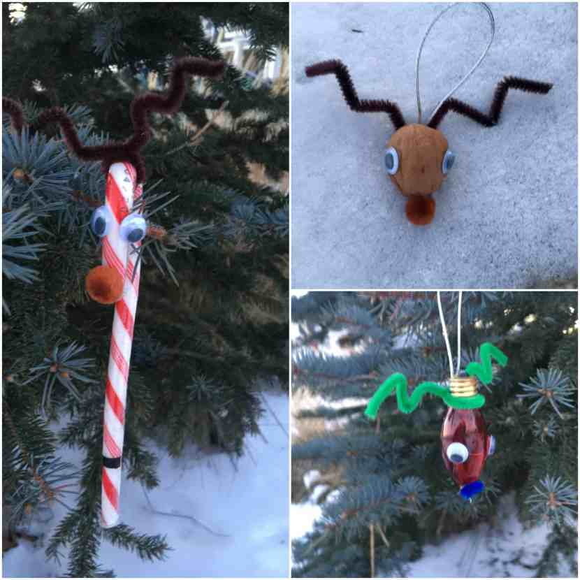 These simple DIY reindeer ornaments are so fun and so easy to make. They are preschooler friendly. Great for Christmas decorations, Christmas gifts, Christmas ornaments