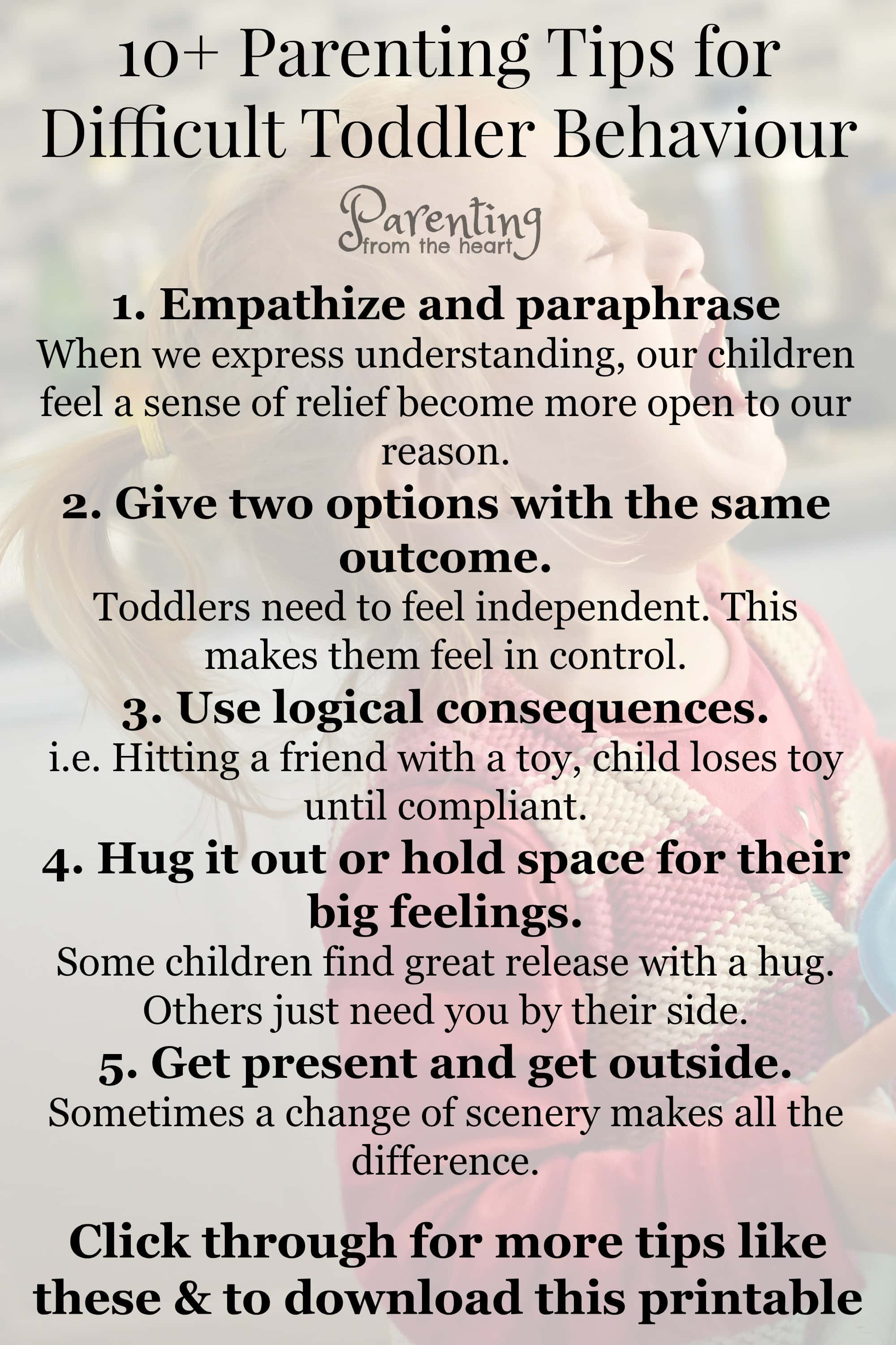 10 Positive Parenting Strategies For Difficult Toddler