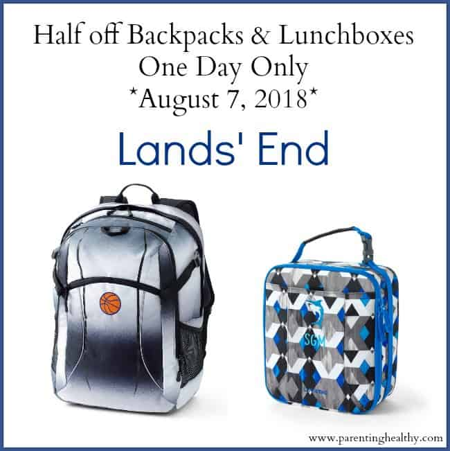 Half off Backpacks and Lunchboxes at Lands End One Day Only