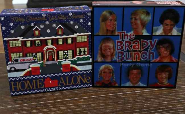 Family Game Night with Brady Bunch and Home Alone Board Games