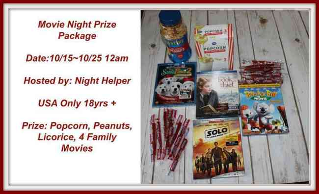 Movie Night Prize Pack Giveaway