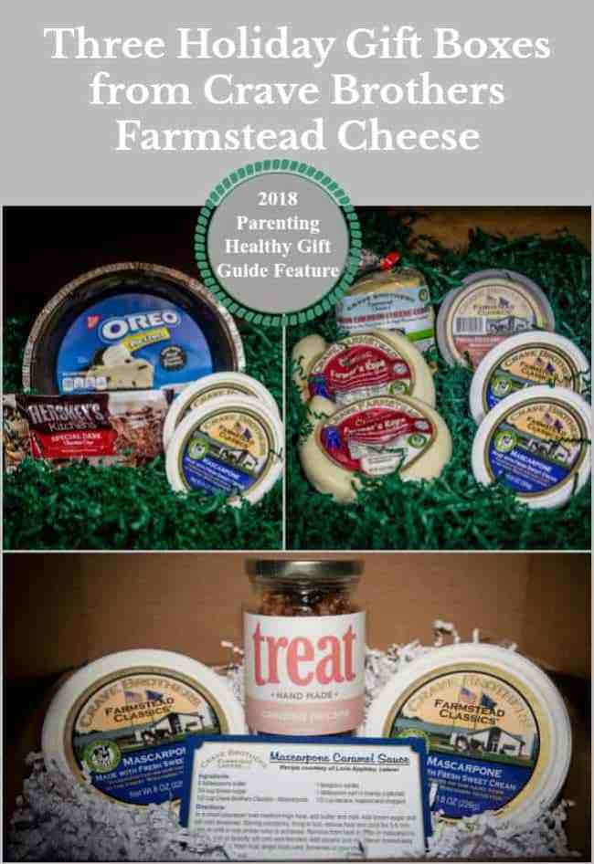 Three Holiday Gift Boxes from Crave Brothers Farmstead Cheese