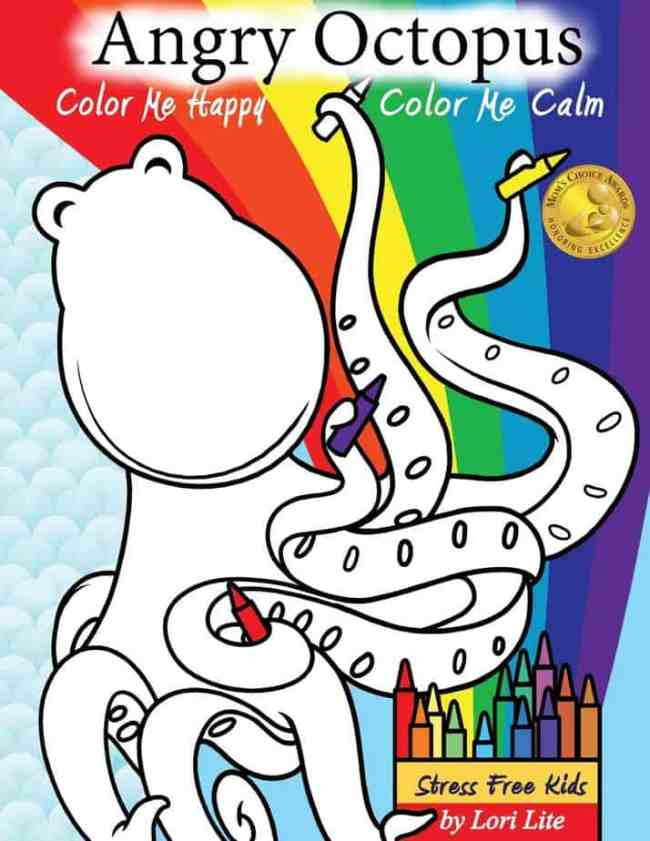 A Self-Help Kid's Coloring Book for Overcoming Anxiety, Anger and Stress