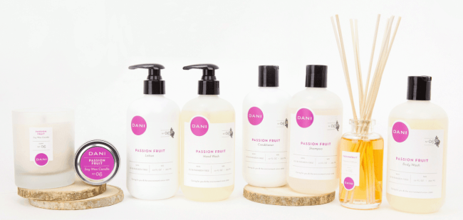 DANI Naturals All-Natural Beauty Brand Bath Products