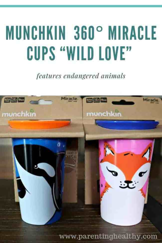 "Munchkin  360° Miracle Cups, ""Wild Love,"" features endangered animals"