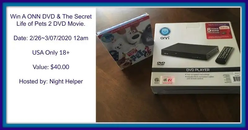 Win A ONN DVD & The Secret Life of Pets 2 DVD Movie