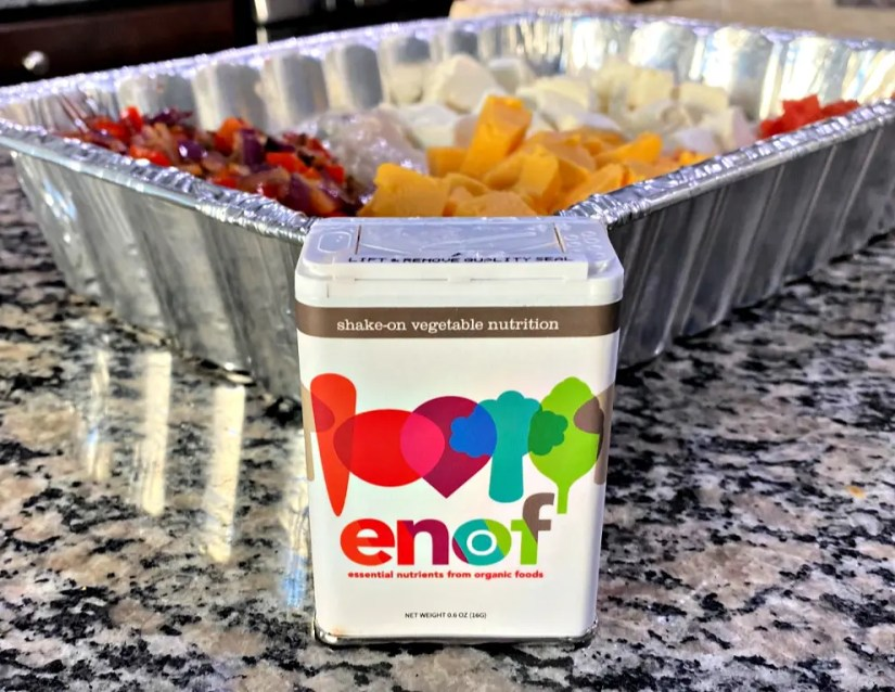Mom's of Picky Eaters Can Rejoice with ENOF shake-on vegetable nutrition