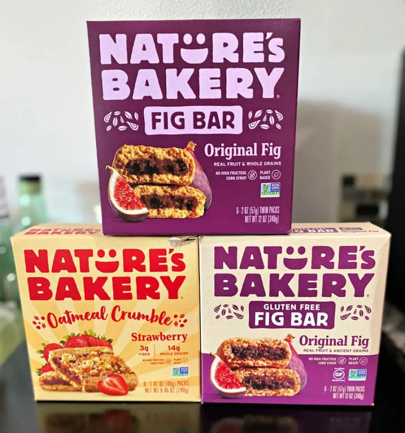 Nature's Bakery Fig Bars are made with real fruit and whole grains