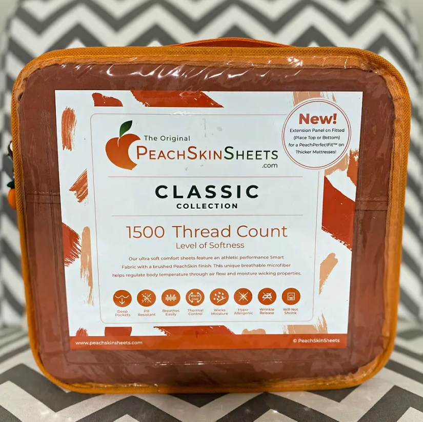 Take your pumpkin spice to the bedroom with these PeachSkinSheets