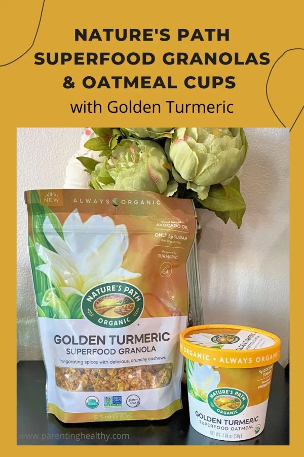Nature's Path Superfood Granolas and Oatmeal cups with Golden Turmeric
