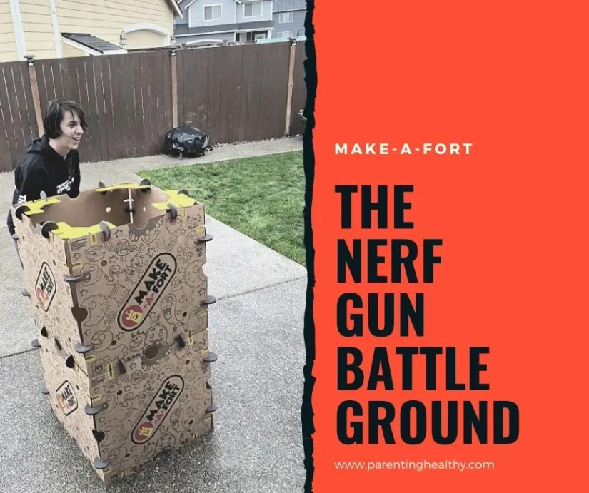 Create a Nerf Gun Battle Ground with Make-A-Fort Kits