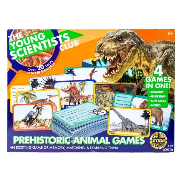 The Young Scientist Prehistoric Animal Card Games