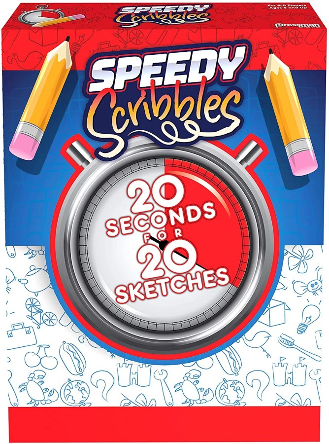 Speedy Scribbles is a game of fast thinking and drawing for memory