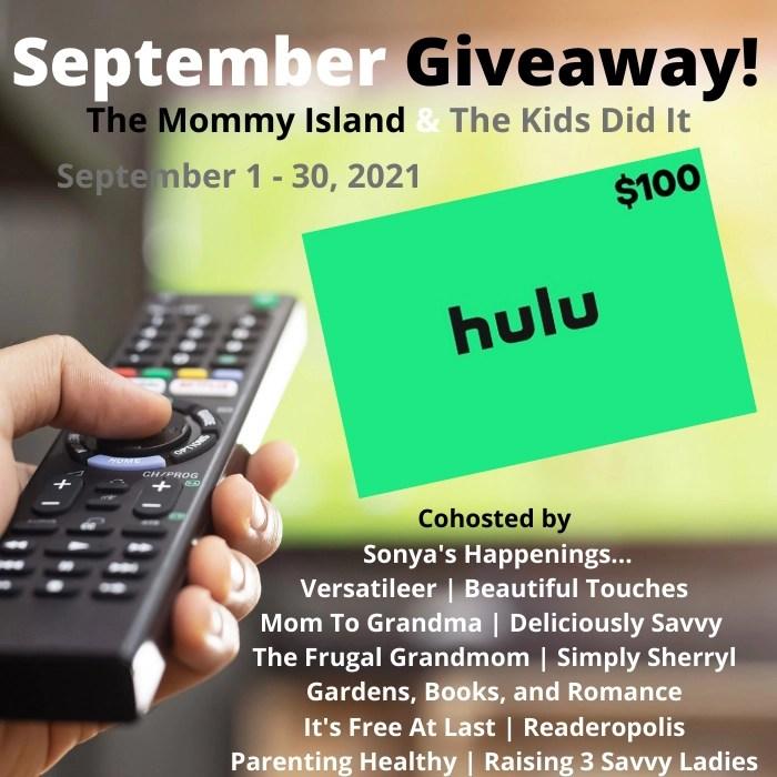 September $100 HULU Gift Card Giveaway