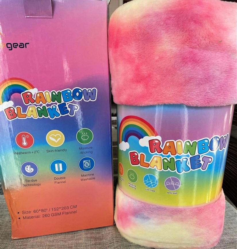 Elegear Rainbow Tie-dye Super Soft Fleece Blanket