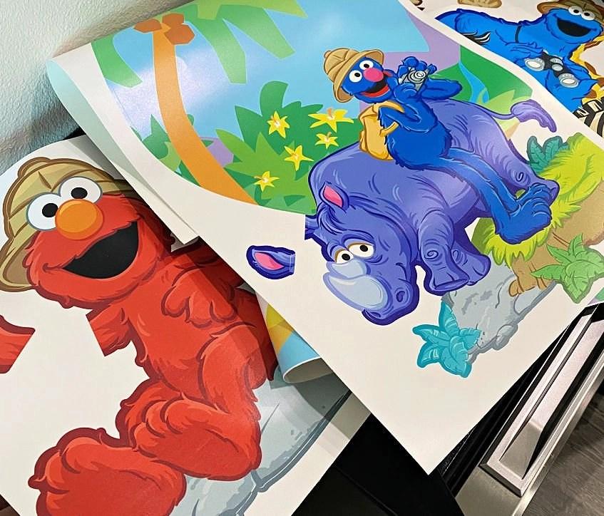 Elmo wall stickers