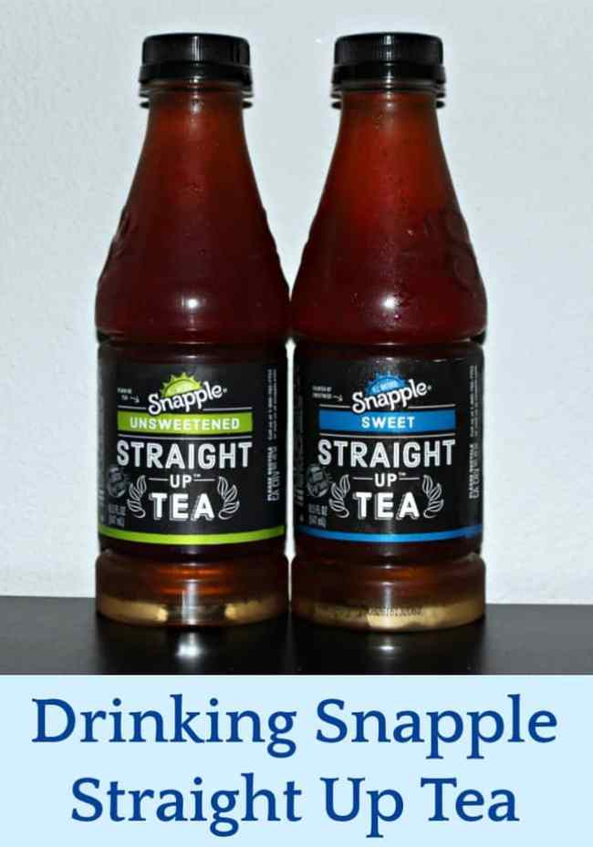 Drinking Snapple Straight Up Tea - Giveaway