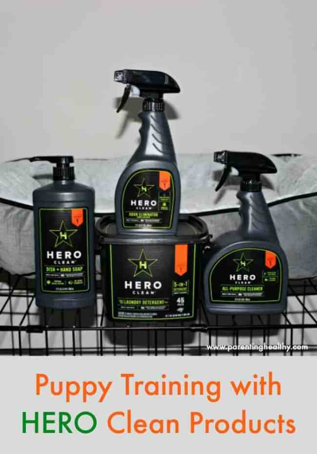 Puppy Training with HERO Clean Products