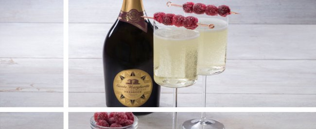 Prosecco with Cranberry