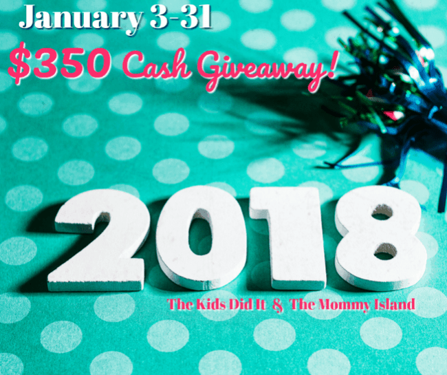 January Cash Giveaway - Win $350 PayPal or Gift Card