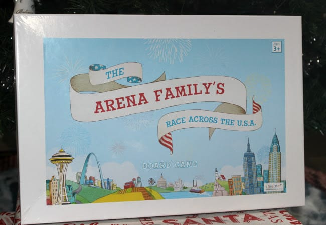 Our Family's Race Across the U.S.A. Personalized Board Game
