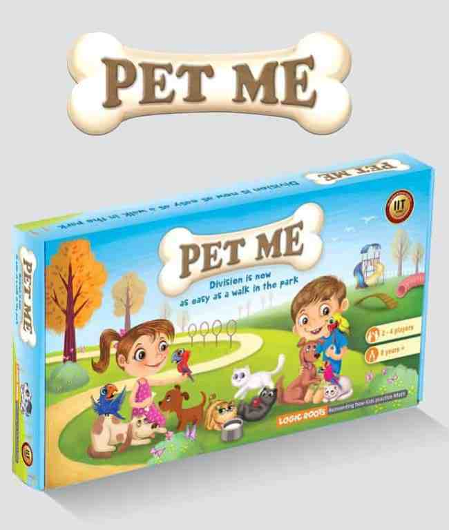 Logic Roots Pet Me Multiplication and Division Math Board Game