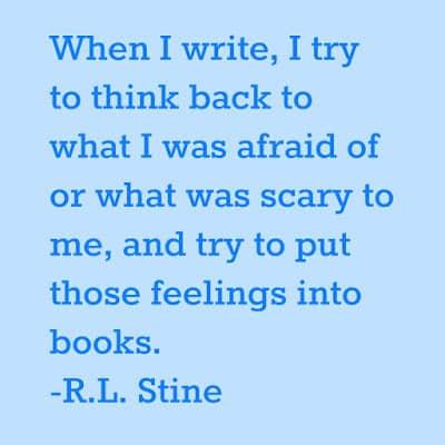 RL Stine Quote